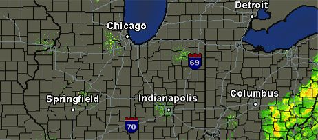This is what was on the Chicago Tribune's regional radar at 8 a.m. this morning.